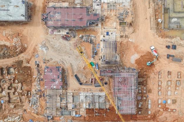 Luchtfoto constructie
