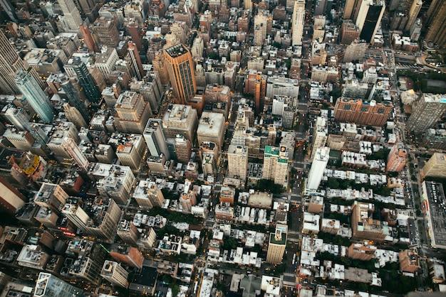 Luchtfoto drone uitzicht over new york city
