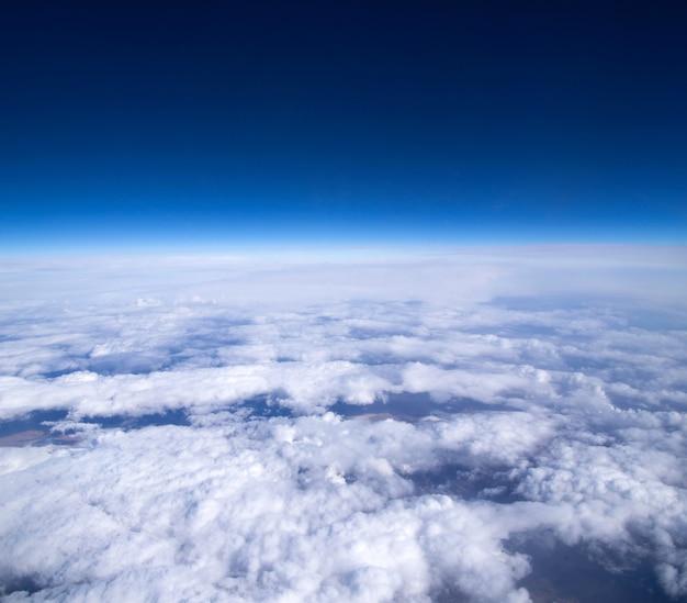 Luchtfoto hemel met wolken achtergrond