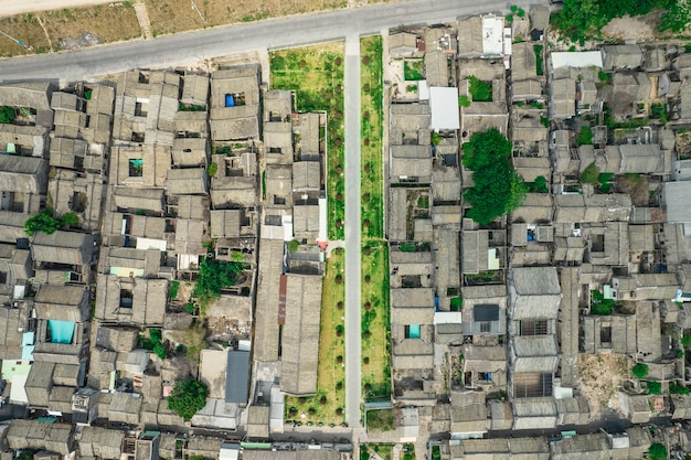 Luchtfoto's van de oude stad chaozhou in china