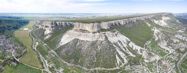 Luchtfoto van belbek canyon in de krim.