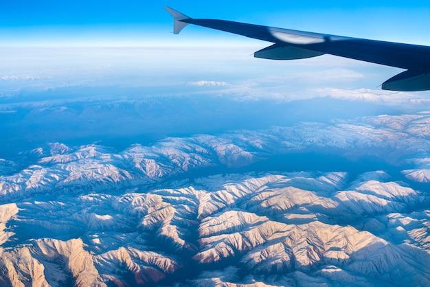 Luchtfoto van bergen in noord-anatolië, turkije