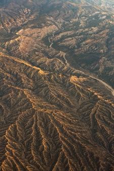 Luchtfoto van bergen