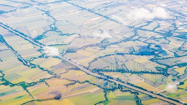 Luchtfoto van boerderij