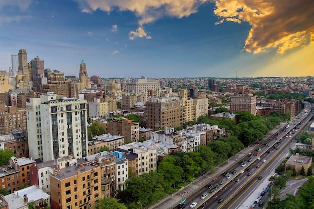 Luchtfoto van brooklyn is de meest bevolkte van het centrum van brooklyn new york city usa