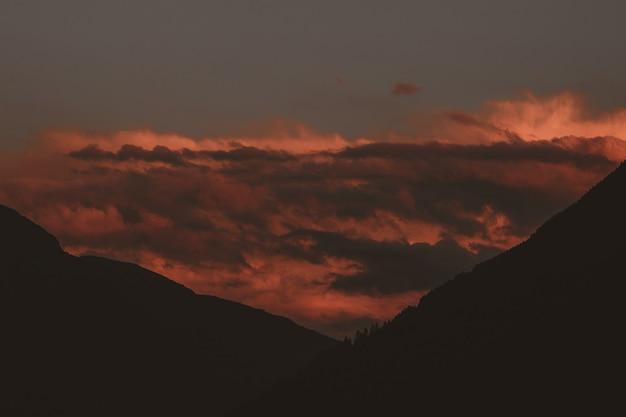 Luchtfoto van de berg
