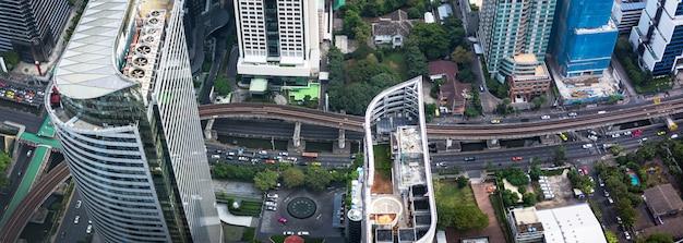 Luchtfoto van de grote stad