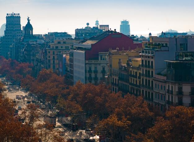 Luchtfoto van de stad barcelona.