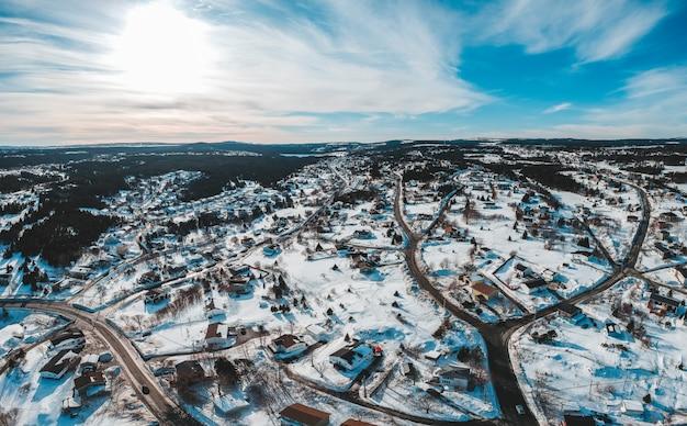 Luchtfoto van de stad overdag