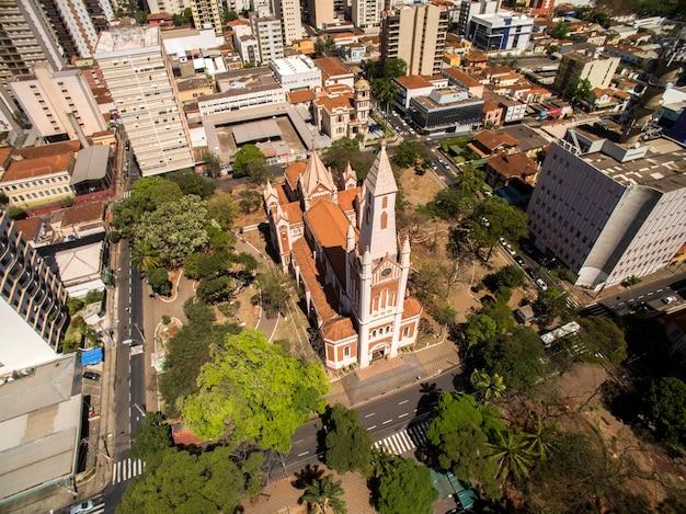 Luchtfoto van de stad ribeirao preto in sao paulo, brazilië