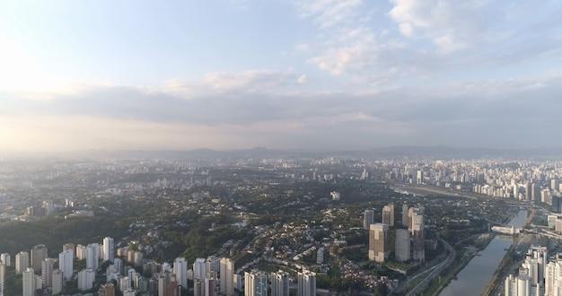 Luchtfoto van de stad sao paulo, brazilië.