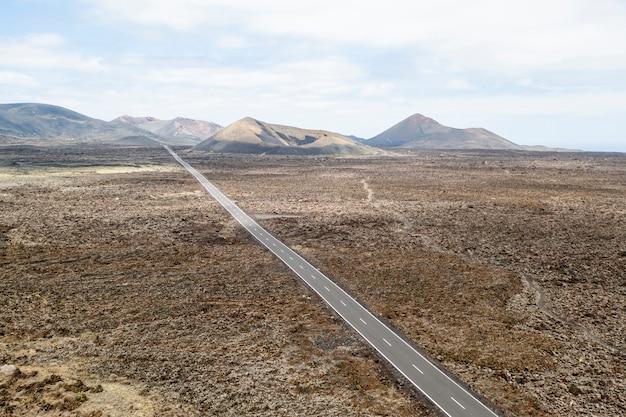 Luchtfoto van de weg