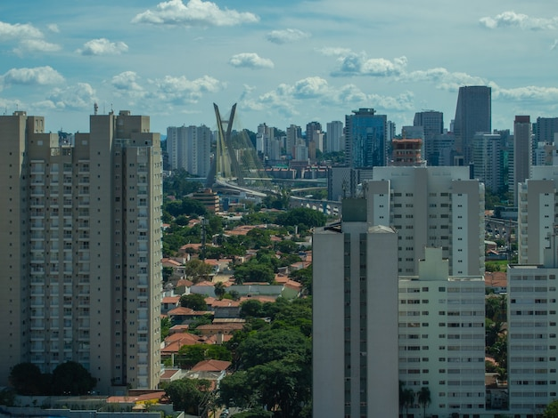 Luchtfoto van de wijk brooklin in sao paulo.