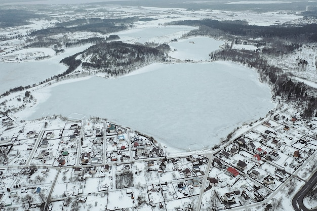 Luchtfoto van dorp