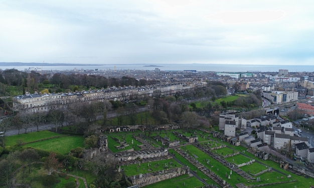 Luchtfoto van edinburgh
