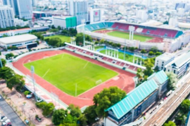 Luchtfoto van een atletiekstadion