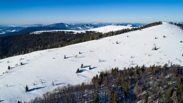 Luchtfoto van een prachtig schilderachtig landschap