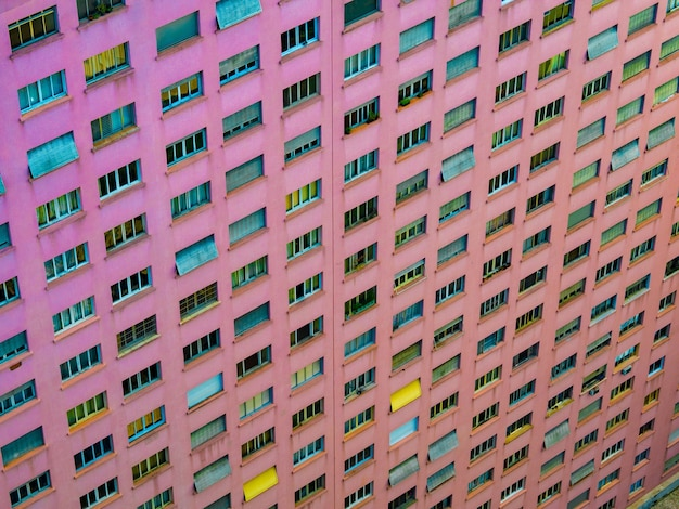 Luchtfoto van een roze gebouw in het centrum van de stad so paulo