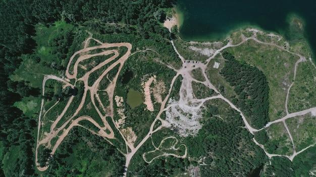 Luchtfoto van een track