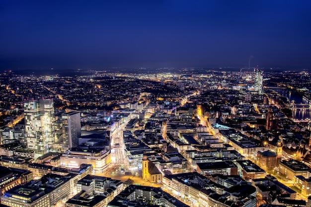 Luchtfoto van frankfurt.