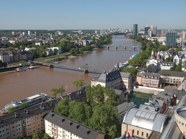 Luchtfoto van frankfurt