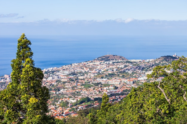 Luchtfoto van funchal, het eiland madeira, portugal