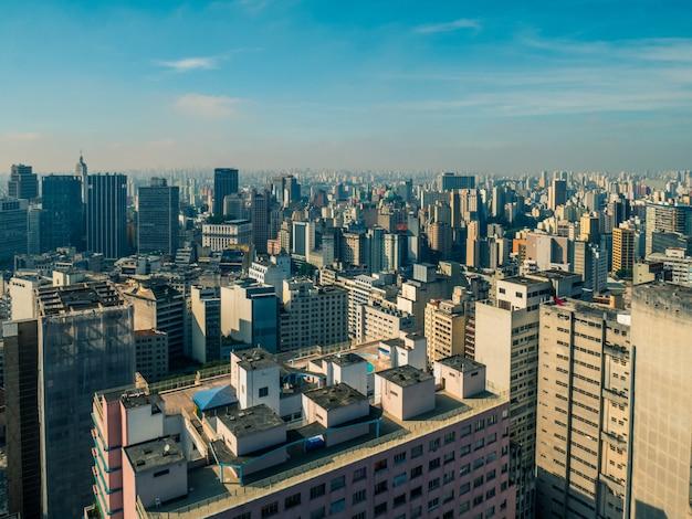 Luchtfoto van het centrum van de stad sao paulo