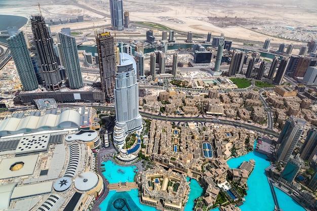 Luchtfoto van het centrum van dubai