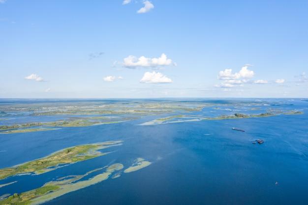 Luchtfoto van het everglades national park, florida, verenigde staten. moeras, wetlands.