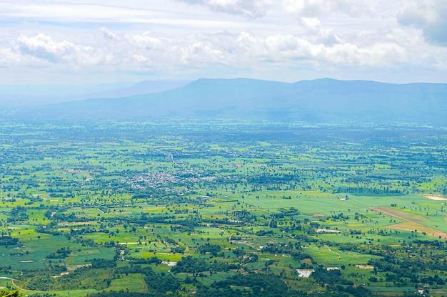 Luchtfoto van het landschap