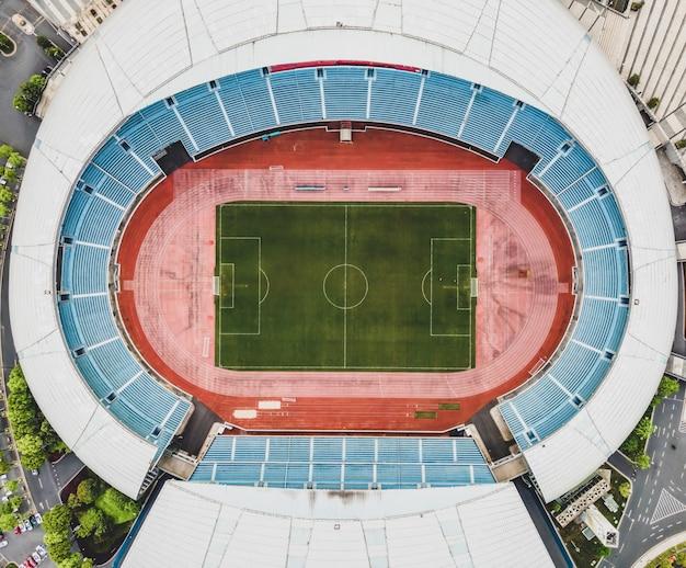 Luchtfoto van het stadion