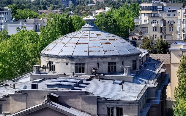 Luchtfoto van het stadscentrum van chisinau