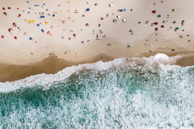 Luchtfoto van het strand van copacabana.