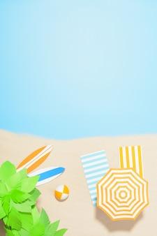 Luchtfoto van het strandresort met kopie ruimte. concept zomervakantie
