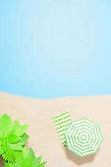 Luchtfoto van het strandresort met kopieerruimte. concept zomervakantie