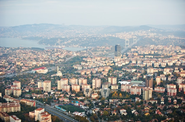 Luchtfoto van istanbul. oude stad.