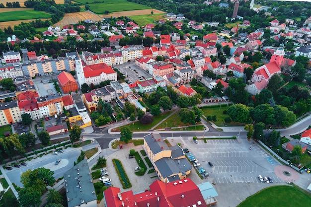 Luchtfoto van kleine tpwn in europa