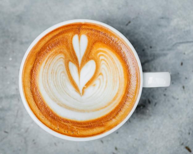 Luchtfoto van latte art