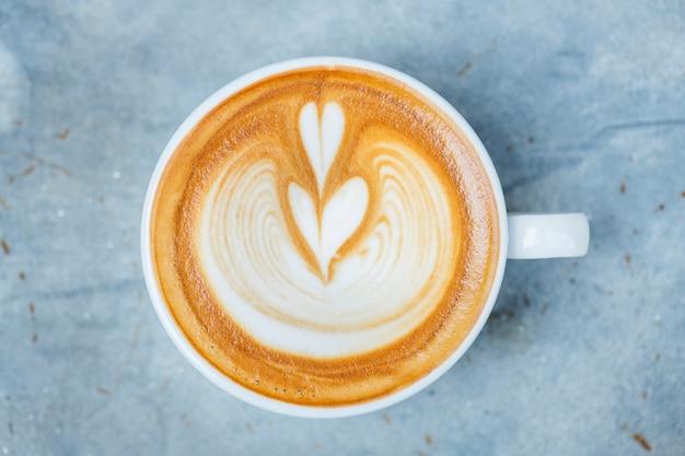 Luchtfoto van latte kunst