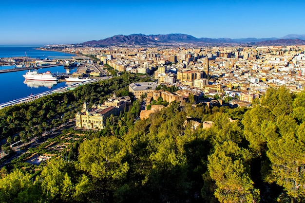 Luchtfoto van malaga, andalusië, spanje