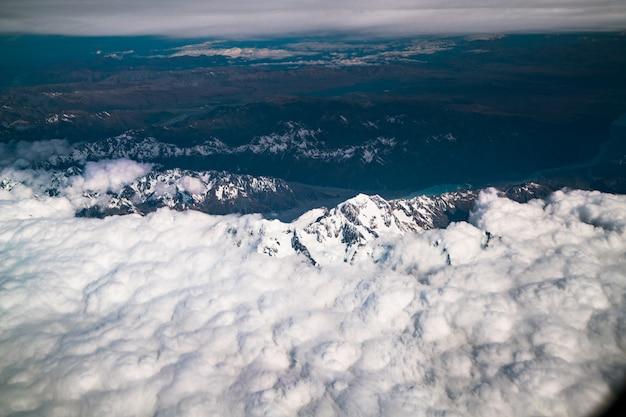 Luchtfoto van mt cook, nieuw-zeeland