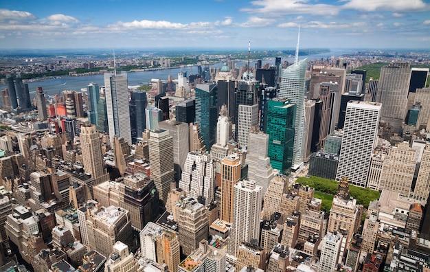Luchtfoto van new york city