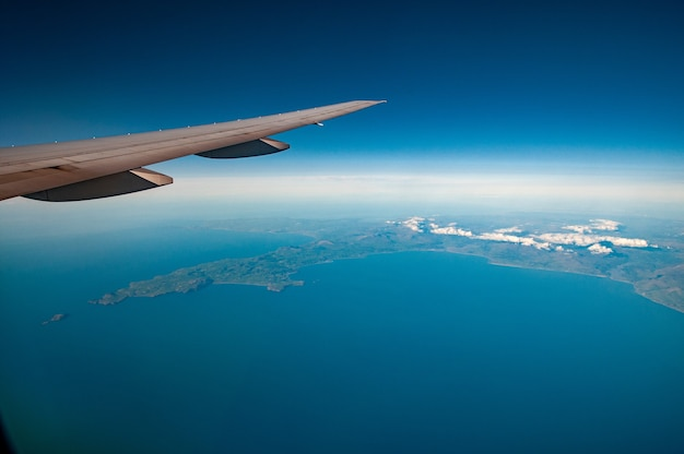 Luchtfoto van north cardigan bay, wales