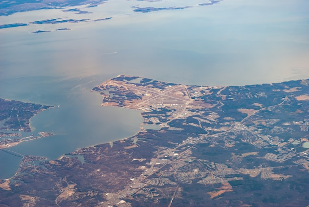 Luchtfoto van patuxent river naval air station, maryland