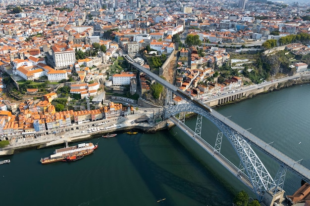 Luchtfoto van porto, portugal, europa