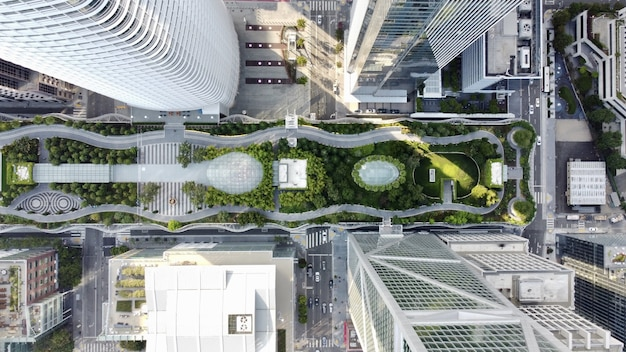 Luchtfoto van salesforce transit center in san francisco, vs.