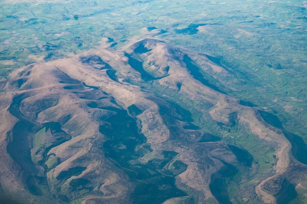 Luchtfoto van the black mountains, south wales, uk