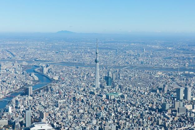 Luchtfoto van tokyo city