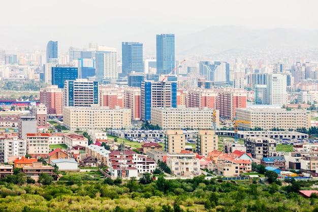 Luchtfoto van ulaanbaatar, mongolië