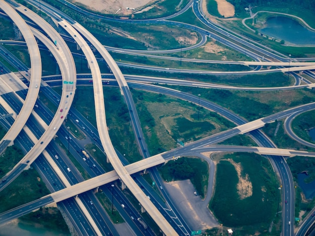 Luchtfoto waar i-295 voldoet aan i-495 - the washington beltway